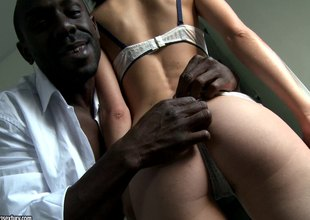 Randy Latin chick milf being drilled anal overwrought a darksome chap