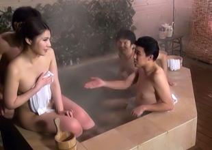 Hawt Japanese Av Incise In Hardcore Mmmf Baths Outdoors