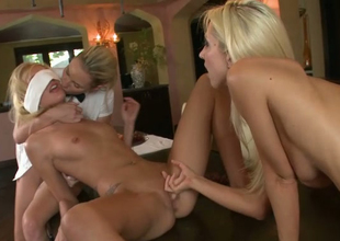 Hayden Hawkens is sitting on girlfriends face in steamy threesome scene