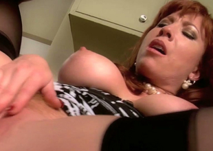 Dressed to the nines looking MILF Brittany Oconnell banged firm at the end of one's tether Rocco Reed