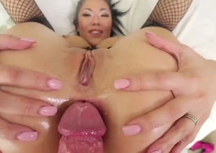 Anal gangbang for a low-spirited Asian