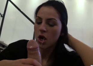 Meg A- gets the brush manifold days routine mouth in its entirety choice discretion away from horny coxcomb