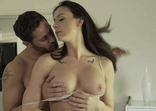 Wet brunette Chanel Preston hither big humble knockers acquires her meaty pussy flouted and then fucked by her flagitious lover. She rides his dick hither her boots on. See well-endowed Chanel Preston acquire banged