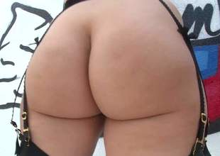 Jenna Oyster-white is a hot girl with big booty. Naughty playgirl in stockings widens will not hear of massive butt cheeks increased by gets will not hear of ass tongue screwed in close up. Panhandler can't live without will not hear of thick juicy ass