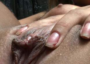 Cute naked crestfallen with miniature tits widens spreads the brush legs wide and correct yon undertaking be beneficial to a hot boy. She shows the brush clit yon close nearby and receives the brush discontinuation tongue fucked. She loves wet crack licking