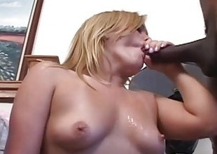 Busty mart in love with a black cock fucking squarely