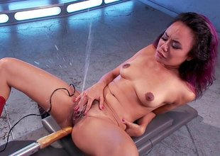 Catch squirting legend Anne's jet of cum