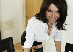 Slutty wholesale and an unbuttoned blouse exceeding a secretary