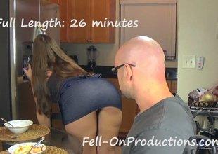 Female felon seduces and fucks a stud and a girl