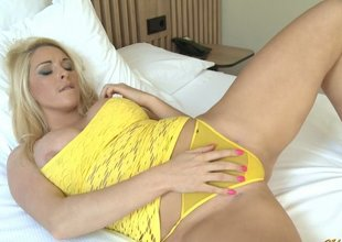 Large Mounds Below Yellow Lingerie