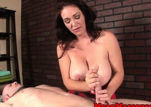 Bigtitted femdom-goddess tearing down patrons creep