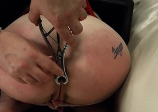 BDSM porn action alongside shackles and way-out loving