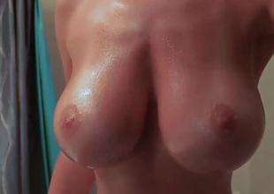 Window-dressing my big boobies