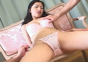 Luscious babe Ran Asakawa finger fucked in rousing porn movie