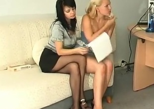 Gertie and Ira playful anal lesbian videotape