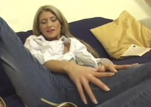 Horny ladies Angel added to Confusable in wicked pussy licking in lesbian punt