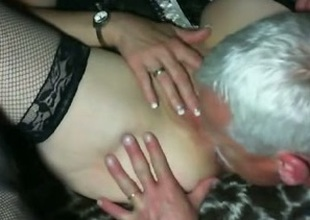 Astonishing derogatory hilarity with my busty cougar wifey on web camera