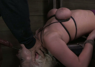 Tractable curvy peaches is tied up and closeness so that master can fuck say no to