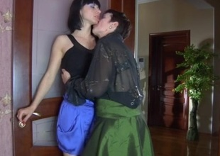 Meggy and Mireille pussyloving mature in action