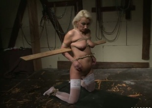 Blond gets her love hole pumped with zero mercy wide of marketable advanced position