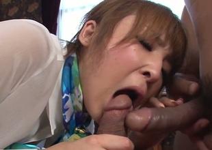 Hikaru Shiina has a nice time unwashed dudes worm