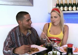 Golden-haired Alexis Texas with kewl ass lets guy jam will not hear of charming face back cream