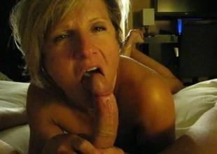Aunt engulfing dick