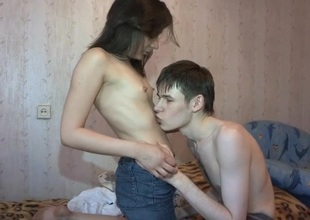 Horny floozy enjoys riding on top be advantageous to an erected thick pecker