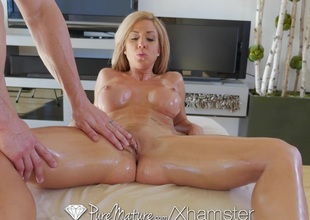 PureMature - Hot milf Parker Swayze gets uncultured massage