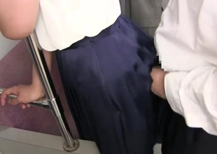Cum above skirt