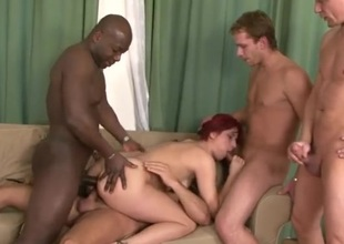'round holes be worthwhile for a redhead three-dimensional a gangbang