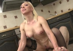 Hot housewife hardcore sex in say no to kitchenette