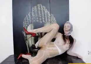 Nylon mask and uppity heels