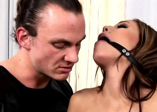 cute fetish anal actions with latex and bdsm