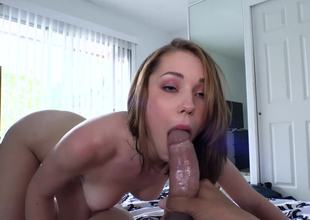 A sexy thing is on the bed, getting her wet crack pounded hard