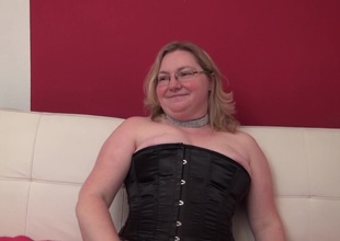 Chunky aged lesbians works her space with respect to her marital-device