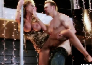 Nikki Benz mien decidedly overwhelming this steady old-fashioned