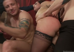 Kinky Desire: Fallon provokes Hell to get the gang-bang be fitting of her dreams!!