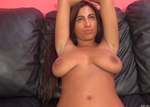Big tits Stacy got will not hear of soiled pussy toyed and screwed hardcore