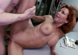 Dissolute redhead live-in lover Veronica Avluv pleases a hawt colleague