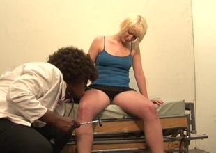 Amateur hither high heels with serious getting licking before sensual drilled with a big frowning load of shit
