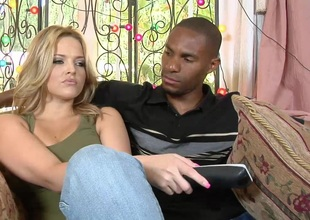 Alexis Texas and Bailey Brooks in a huge dig up outing and ugly blowjob affectation