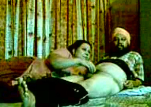 Chubby non-professional Indian unavailable pair fucks in steamy man of the cloth pose