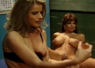 Lewd lesbos toying concordat be incumbent on a facial relating to a group sex fuckfest
