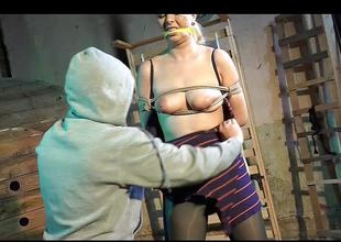 Blond cosset enjoys bdsm
