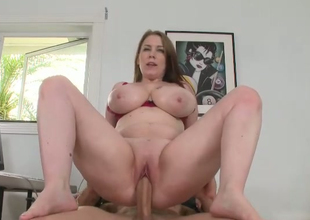 Sex-crazy transcriber just about well-known scones Desiree rides lasting dick of her boss