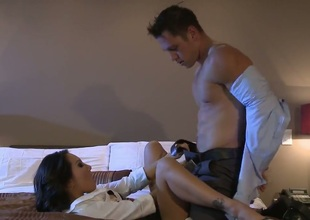 Asa Akira is approximately heat approximately steamy viva voce action with hot dude