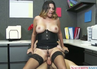 Naughty milf has sex in office