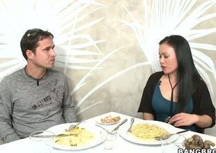 Exotic Mya Luanna enjoys the fondness of mans fast sausage deep down her throat