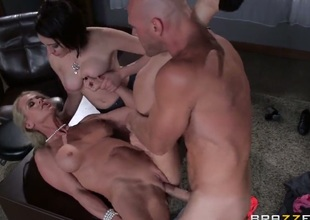 Johnny Sins plays with seductive Tarry Ryders burn out vacillate pie before he slams her hole with his upright sausage